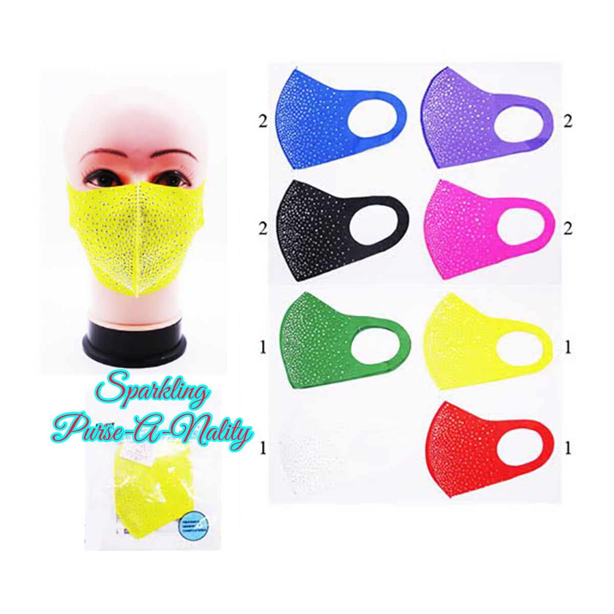 """Image of """"Sparkling"""" Miss Thang Mask"""