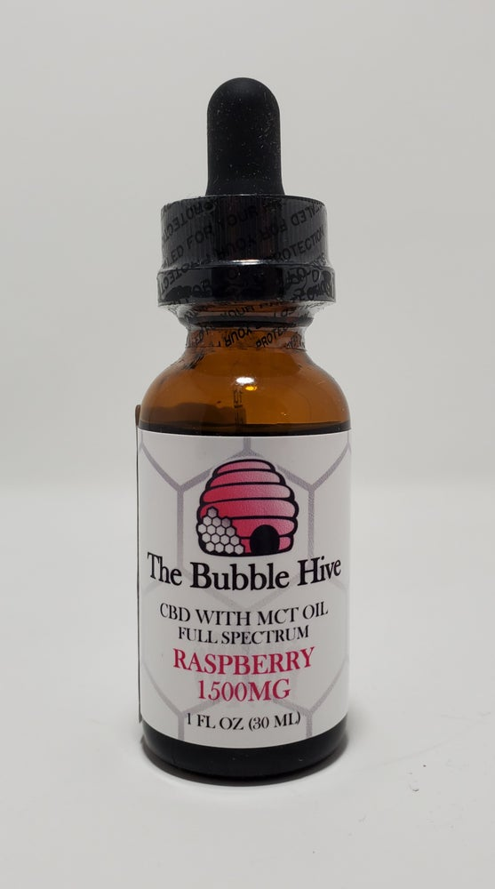 Image of TBH Raspberry CBD w MCT Oil 1500mg (Full Spectrum)
