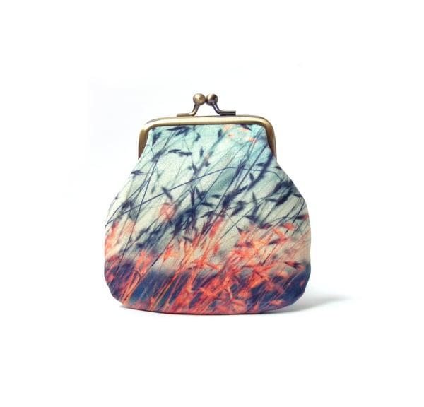Image of Stipa grasses, velvet kisslock coin purse