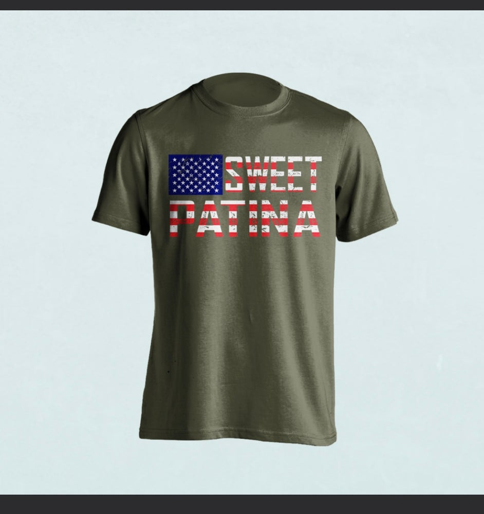 Image of Military Green Flag T-shirt