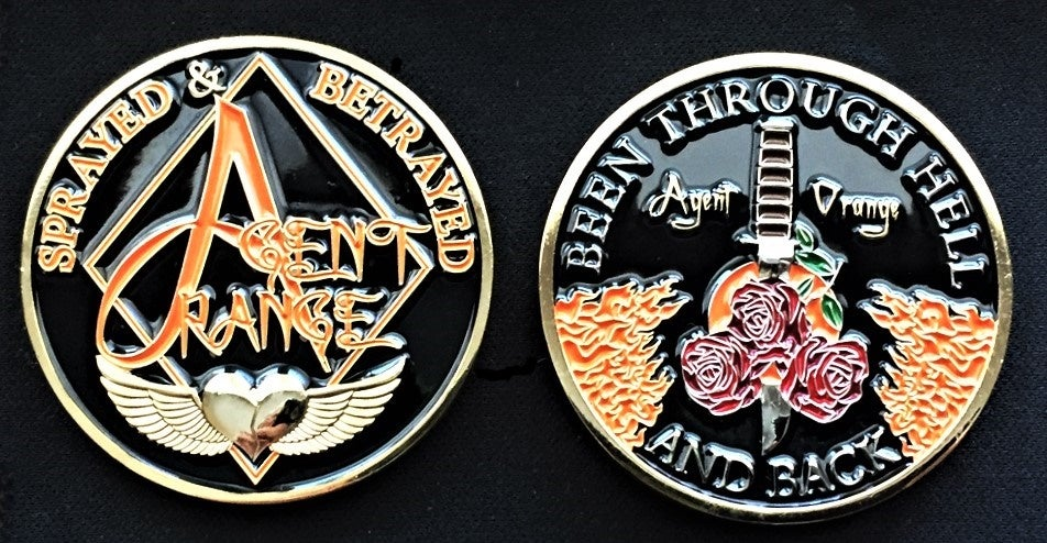 Image of Agent Orange Sprayed And Betrayed Challenge Coin