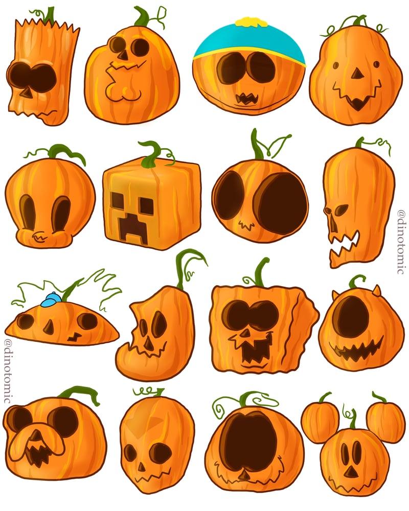 Image of #282 Pumpkin characters print