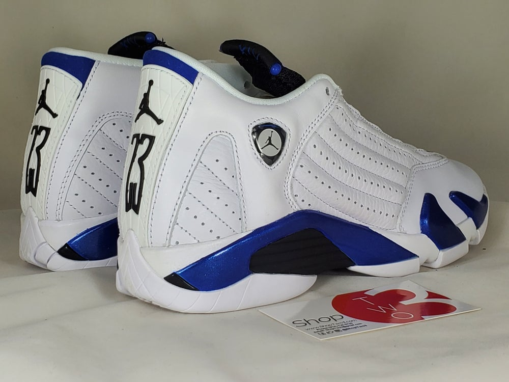 Image of Air Jordan 14 Retro White Hyper Royal