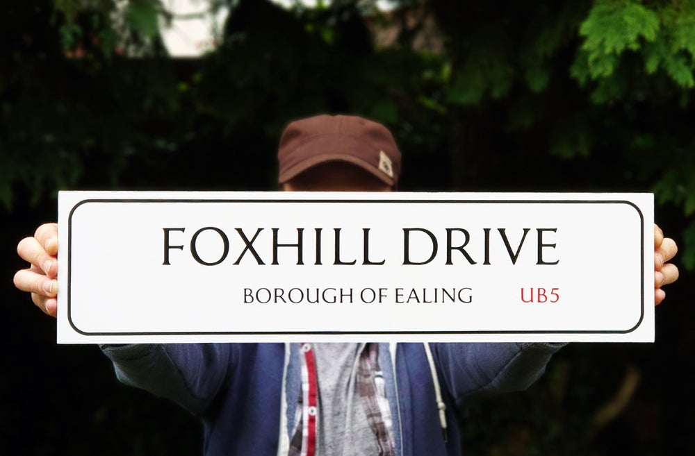 Ghostwatch 'Foxhill Drive' Road Sign