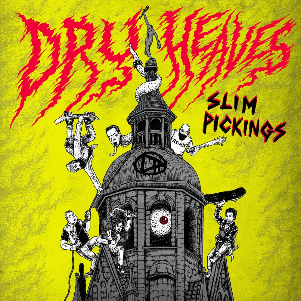 "Image of DRY HEAVES ""Slim pickings"" LP on Red wax"