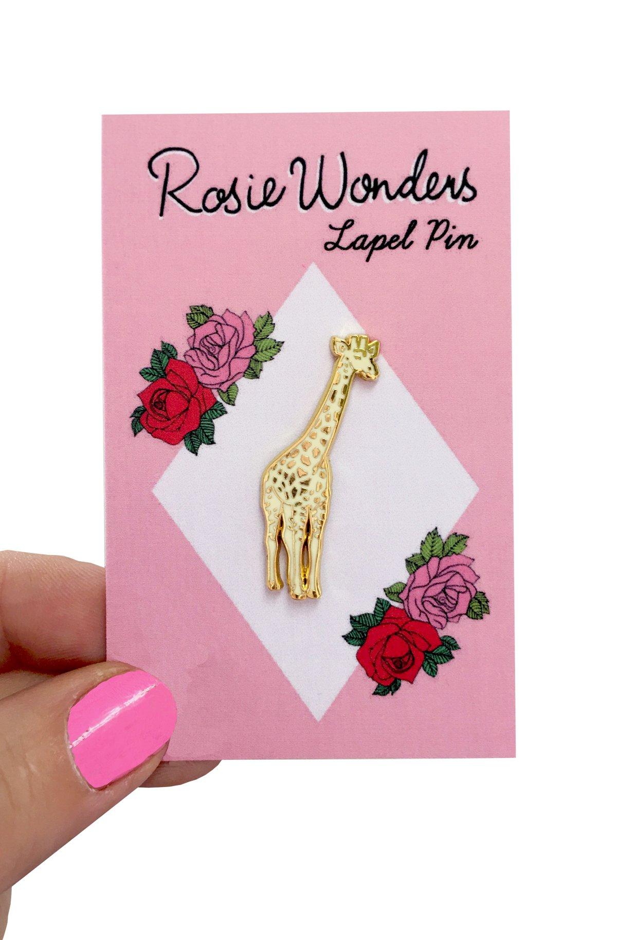 Golden Giraffe Enamel Pin