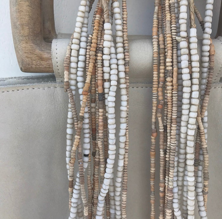 Image of Soft Cream Beaded Necklace