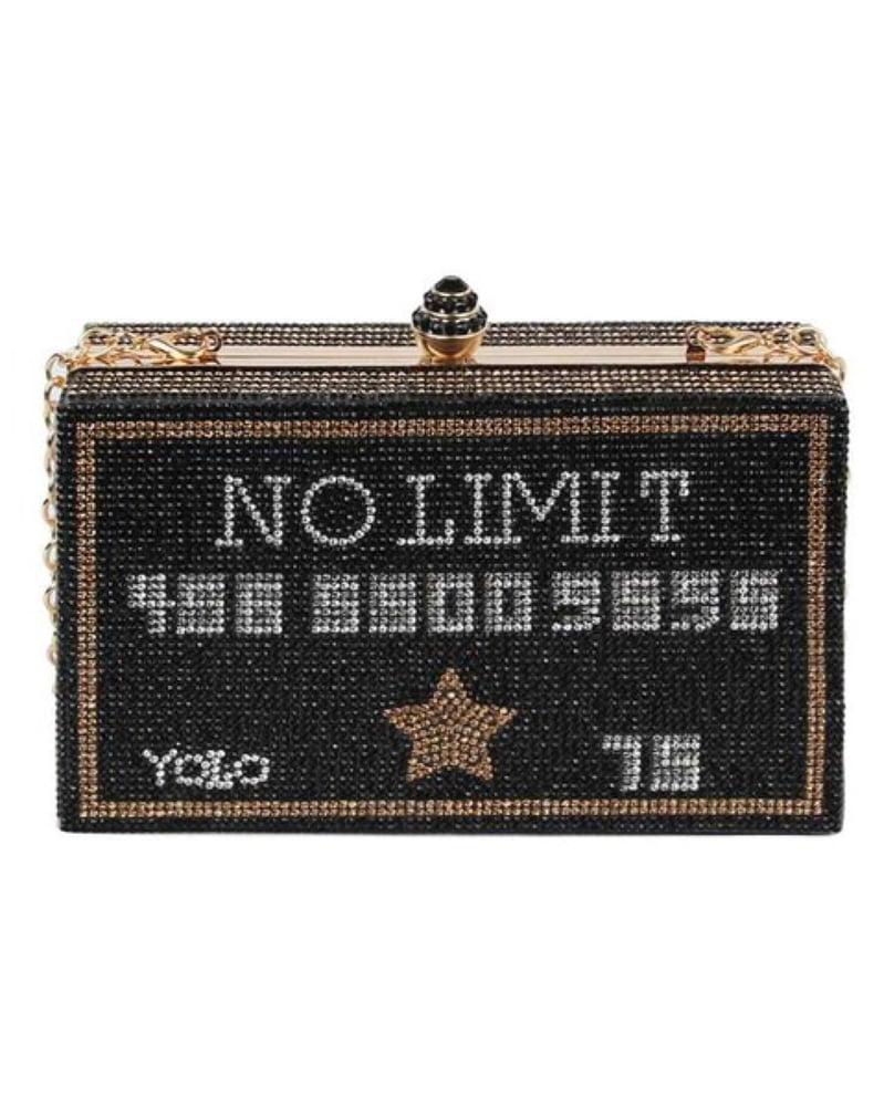 Image of No Limit Black Card Clutch