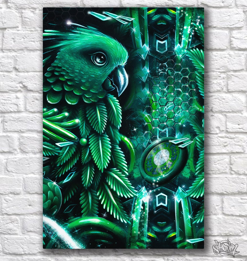 Image of Emerald Parrot Canvas print
