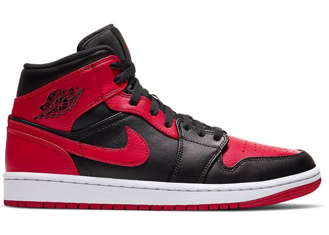 "Image of Jordan 1 Mid  ""Banned "" 2020"