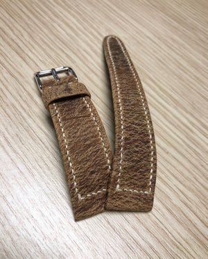 Image of Box-stitch Wild Antilope hand-rolled watch strap