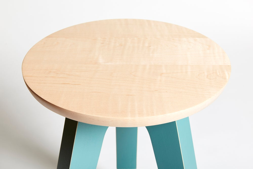 Treble End Table/Stool - Teal