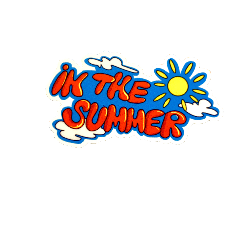 Image of IN THE SUMMER STICKER