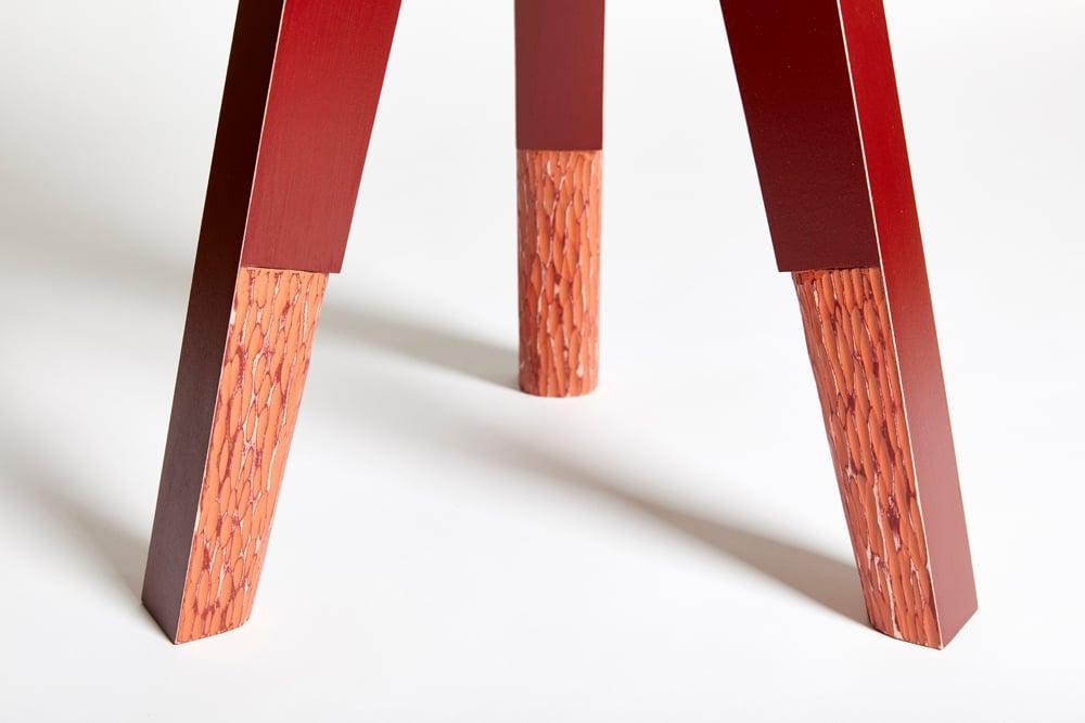 Treble End Table/Stool - Chili