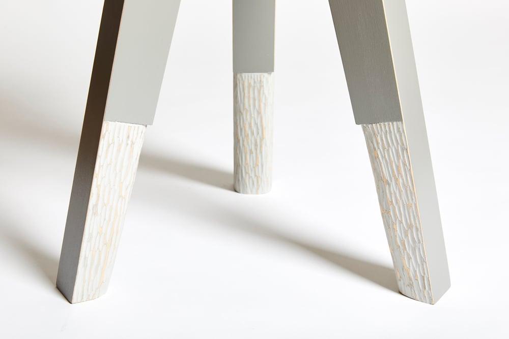Treble End Table/Stool - Gray