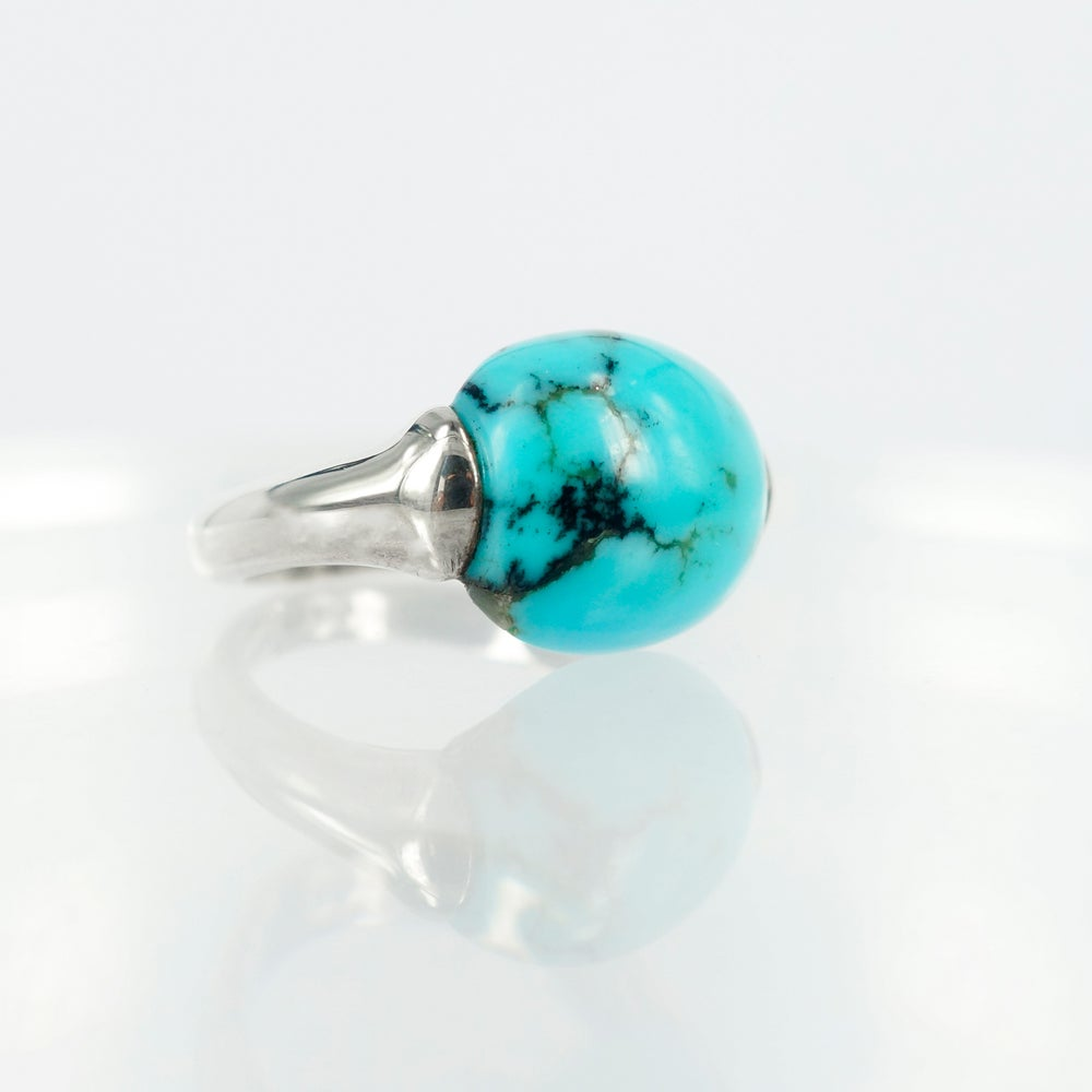 Image of Sterling silver Turquoise dress ring