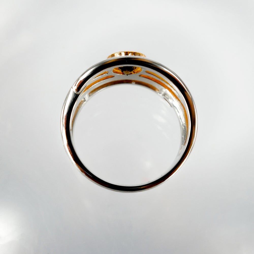 Image of Sterling silver and rose gold multi band ring
