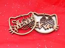 Image 2 of Personalized Silver Mirror Maple Winter Ornaments