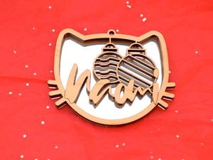 Personalized Silver Mirror Maple Winter Ornaments