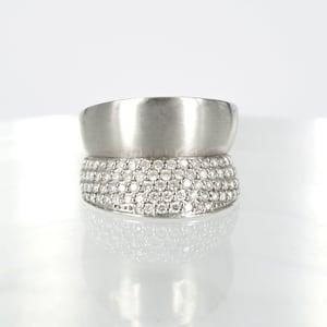 Image of 14ct white gold diamond set cocktail ring - M1394