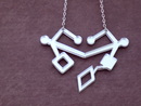 Image 1 of Space Lesbian Shiny Heart Necklace