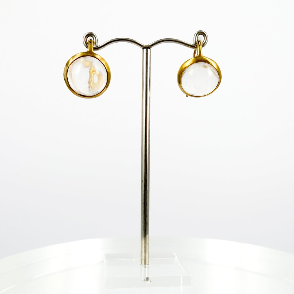 Image of Sterling silver gold plated drop earring - M2785