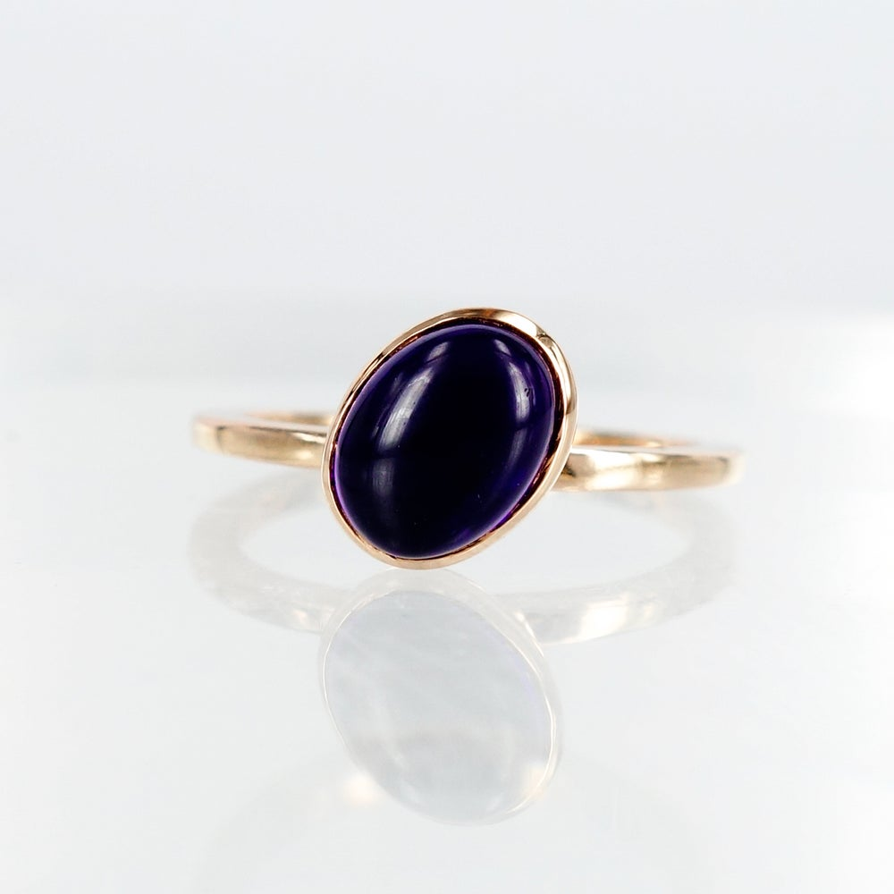 Image of 14ct rose gold stacker ring - Amethyst-  M1437