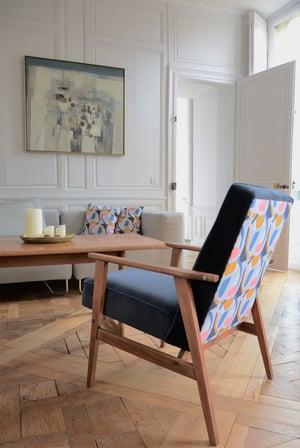 Image of Fauteuils FOX bleu Matisse