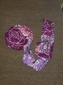 Reversible African Fabric Satin Bonnets/Headwraps (1)