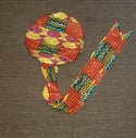 Reversible African fabric satin bonnets/headwraps (2)