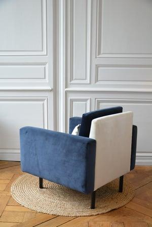 Image of Fauteuil carré Tricolore