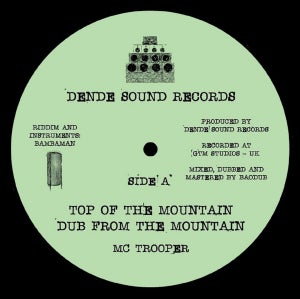 """Image of MC Trooper / Bambaman - Top Of The Mountain / Training Day (New Uk roots 10"""" vinyl)"""