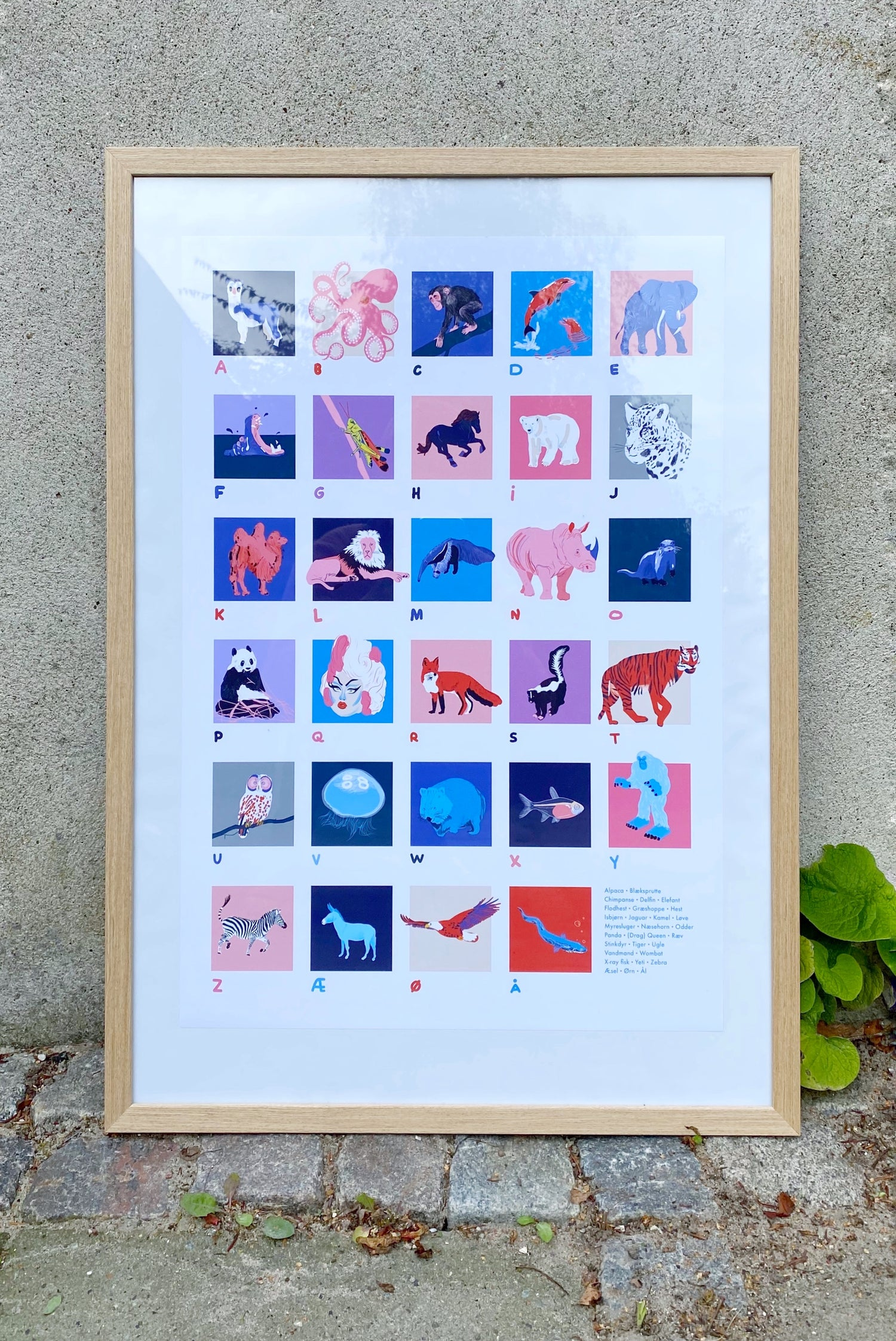 Image of A2 Print: Alphabet Poster (Danish)