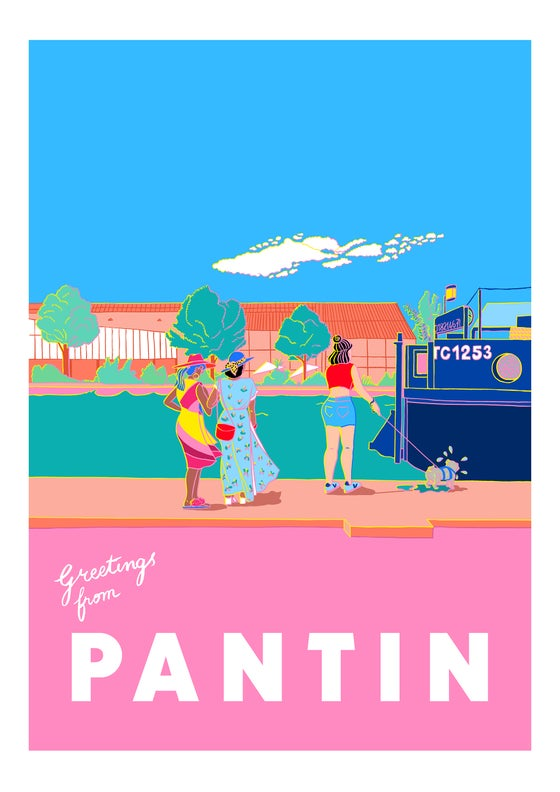 Image of Greetings from Pantin - Wet Dog