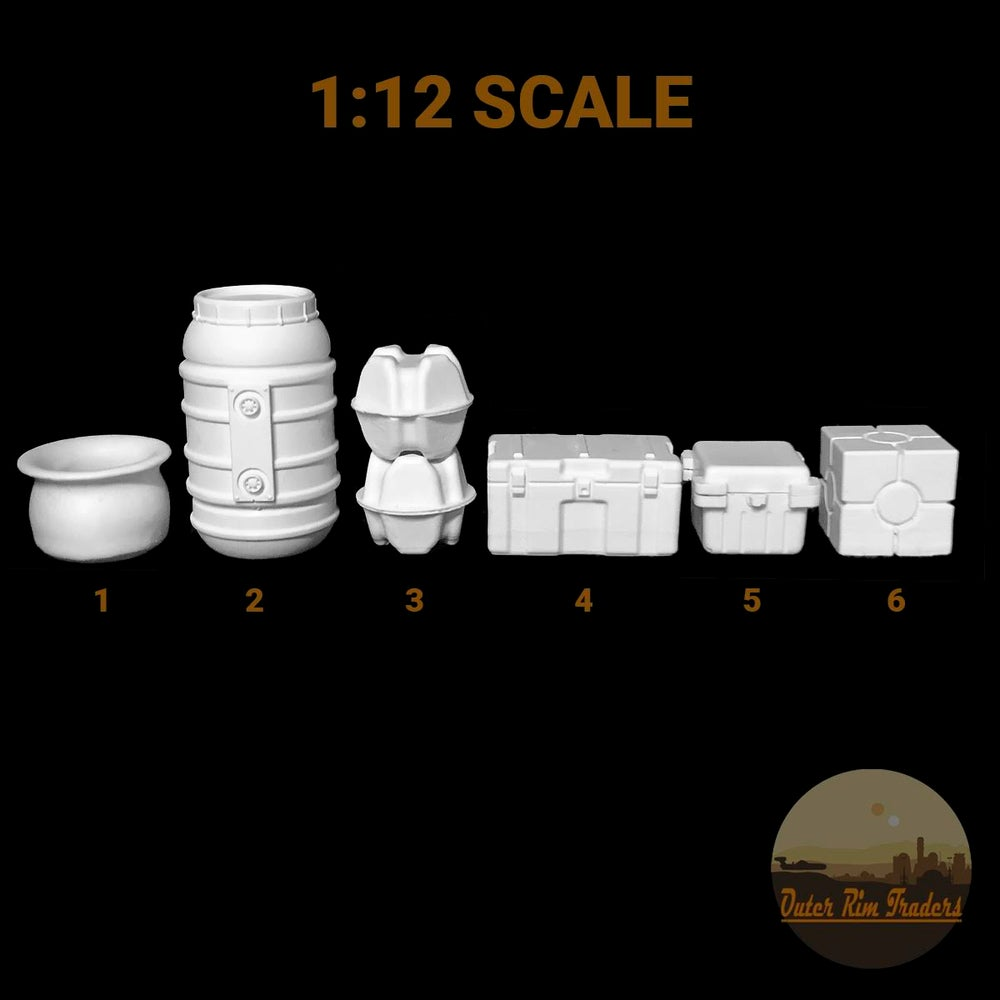 Image of Space Western Diorama Accessories 1:12 scale