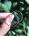 Recycled Silver Simple Moon Outline Earrings