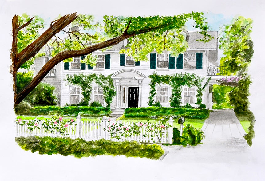 Image of Father of the Bride house - Fine Art Print