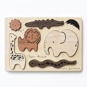 Image of Wooden Tray Puzzle - Safari Animals