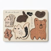 Image of Wooden Tray Puzzle - Woodland Animals