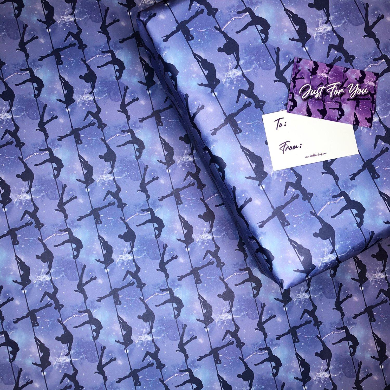 Purple Pole Dance Gift Wrap