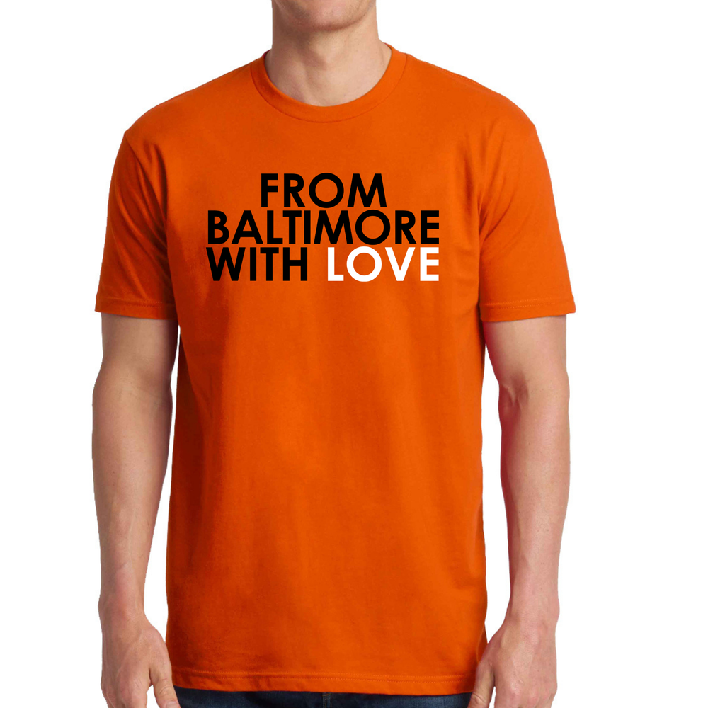 """Image of From Baltimore With Love """"Let's Go O's"""" SS Tee - ORANGE"""