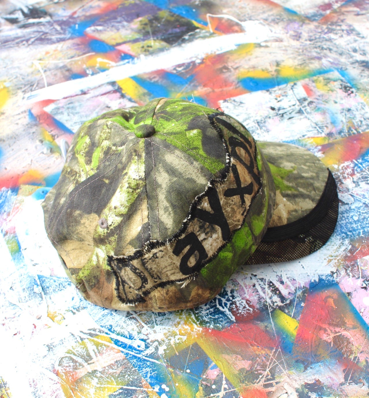 Image of not much to see cap in camo