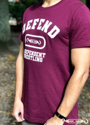 DEFEND Burgundy Varsity Shirt