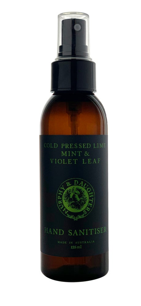 Image of Hand Sanitiser - Cold Pressed Lime, Mint & Violet leaf