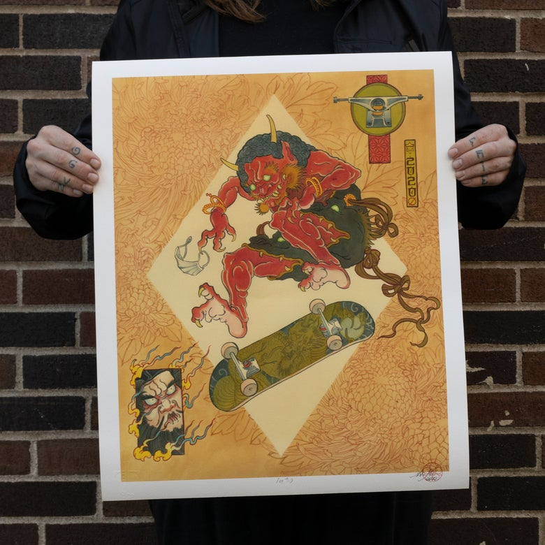 "Image of ""Oni Skater"" 18""x22"" (print)"