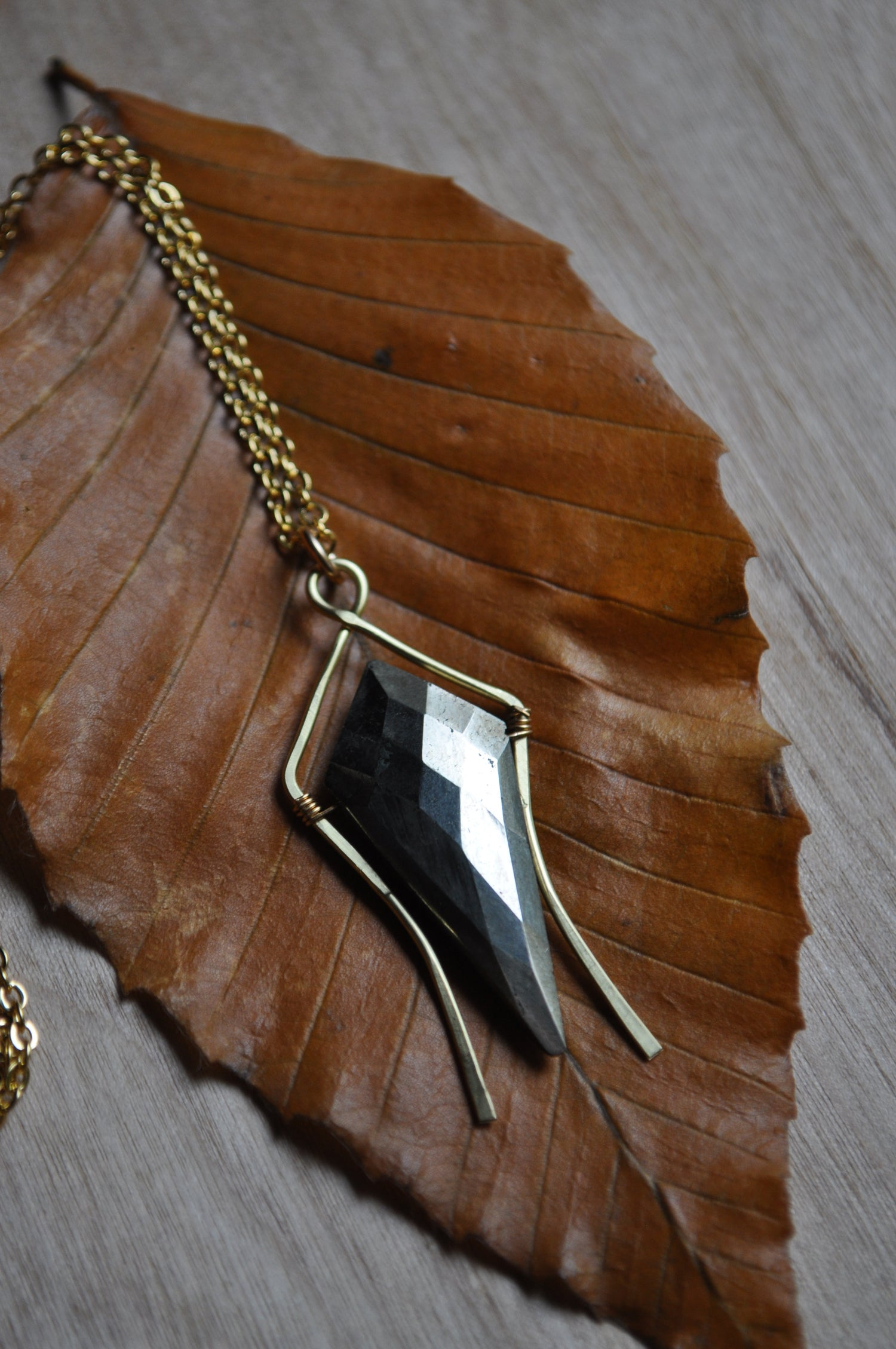 Image of Pyrite Spike Necklace
