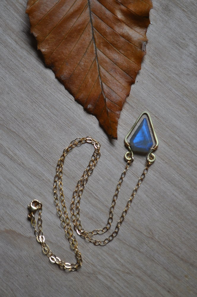 Image of Labradorite Spike Necklace