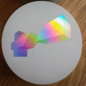 Image of round holo on white