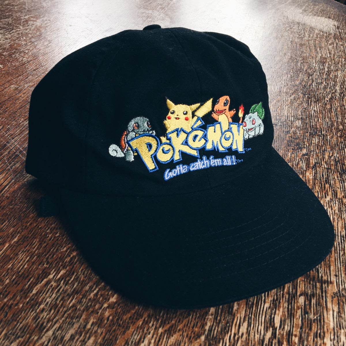 Image of Original Late 90's Pokémon Strapback Hat.