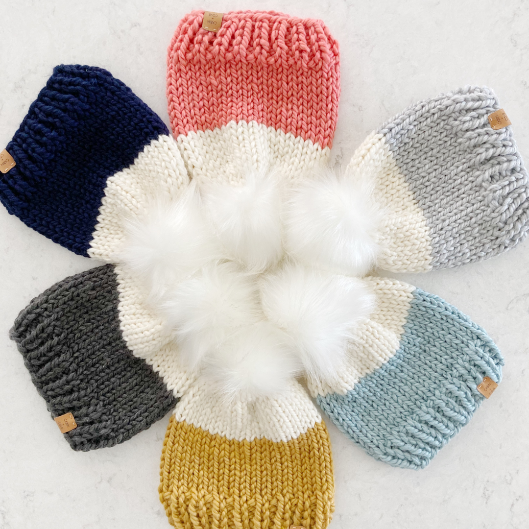 Image of Colour-Dipped Beanie Knitting Pattern PDF Download